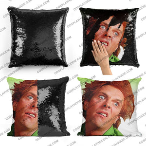 Drop Dead Fred Sequin Pillow D1