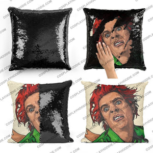 Drop Dead Fred Sequin Pillow D2