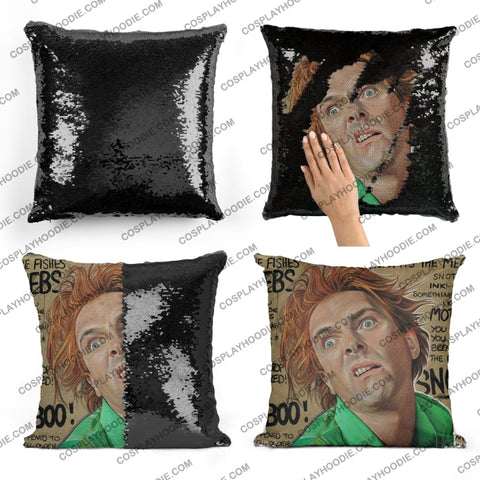 Drop Dead Fred Sequin Pillow D3