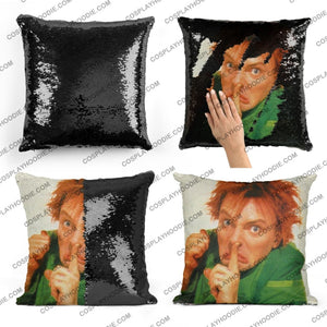 Drop Dead Fred Sequin Pillow D4