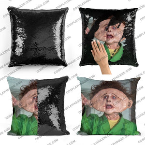 Drop Dead Fred Sequin Pillow D5