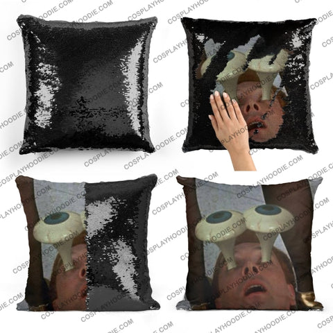 Drop Dead Fred Sequin Pillow D6
