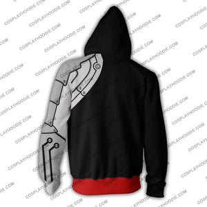 Fullmetal Alchemist Edward Elric Black Zip Up Hoodie Jacket Cosplay