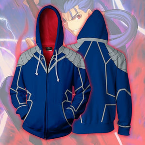 Fatestay Night - Lancer Cosplay Hoodie Jacket