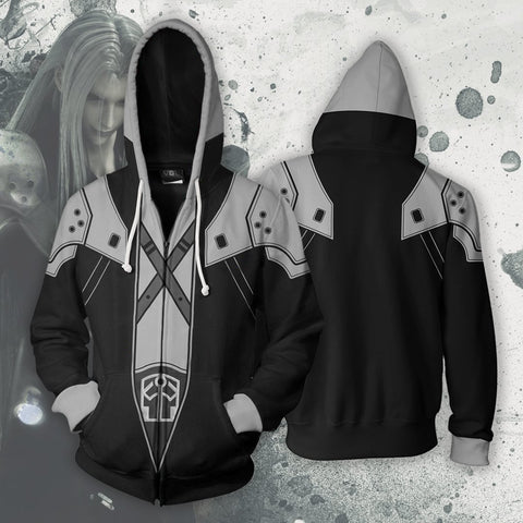 Final Fantasy - Sephiroth Cosplay Hoodie Jacket