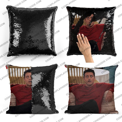 Friends Joey Tribbiani Sequin Pillow F1