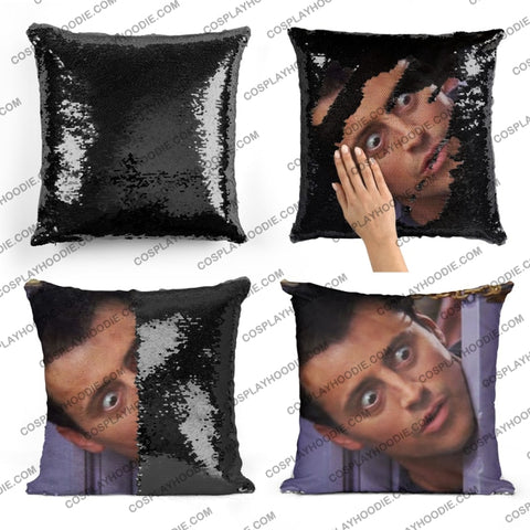 Friends Joey Tribbiani Sequin Pillow F2
