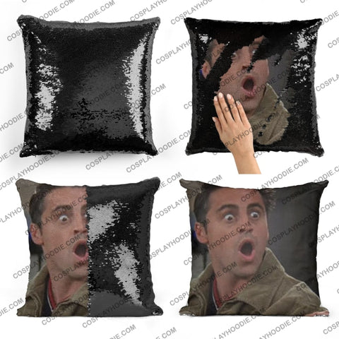Friends Joey Tribbiani Sequin Pillow F3