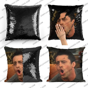 Friends Joey Tribbiani Sequin Pillow F4
