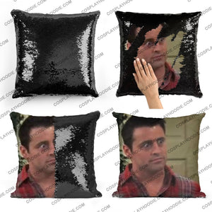 Friends Joey Tribbiani Sequin Pillow F5