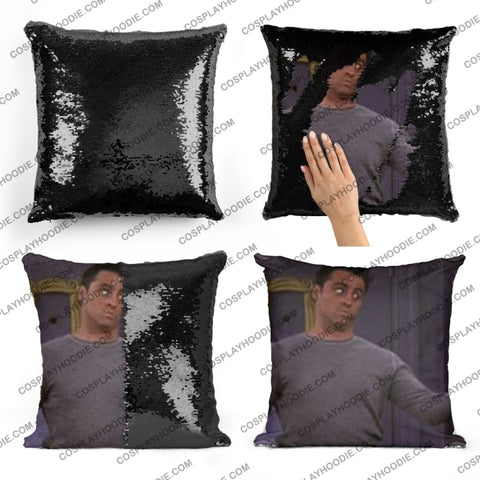 Friends Joey Tribbiani Sequin Pillow F6
