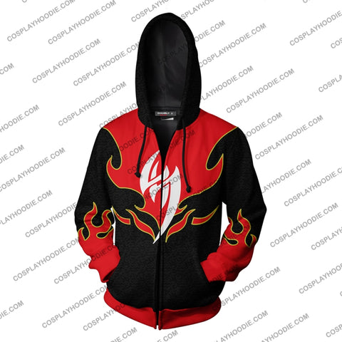 Tekken Jin Kazama Red Flame Hoodie Cosplay Jacket Zip Up
