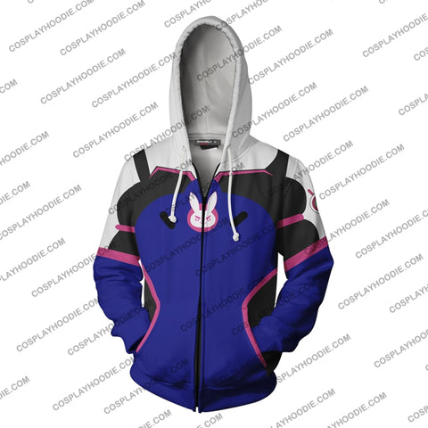 Image of Overwatch D.va Hoodie Cosplay Jacket Zip Up