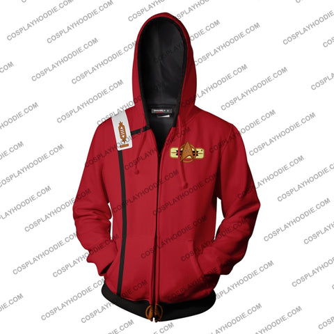 Image of Star Trek Ii The Wrath Of Khan Hoodie Cosplay Jacket Zip Up
