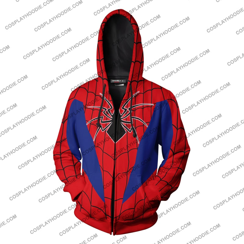 Spider-Armor Mk Iv Cosplay Ps4 Zip Up Hoodie Jacket