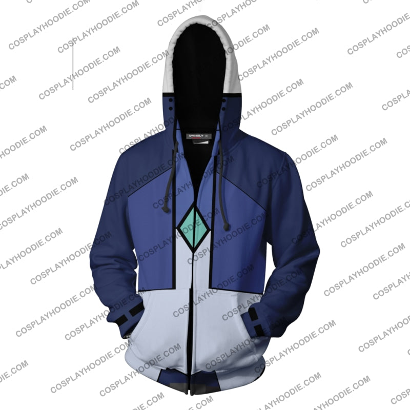 Mobile Suit Gundam 00 Setsuna F. Seiei Hoodie Cosplay Jacket Zip Up