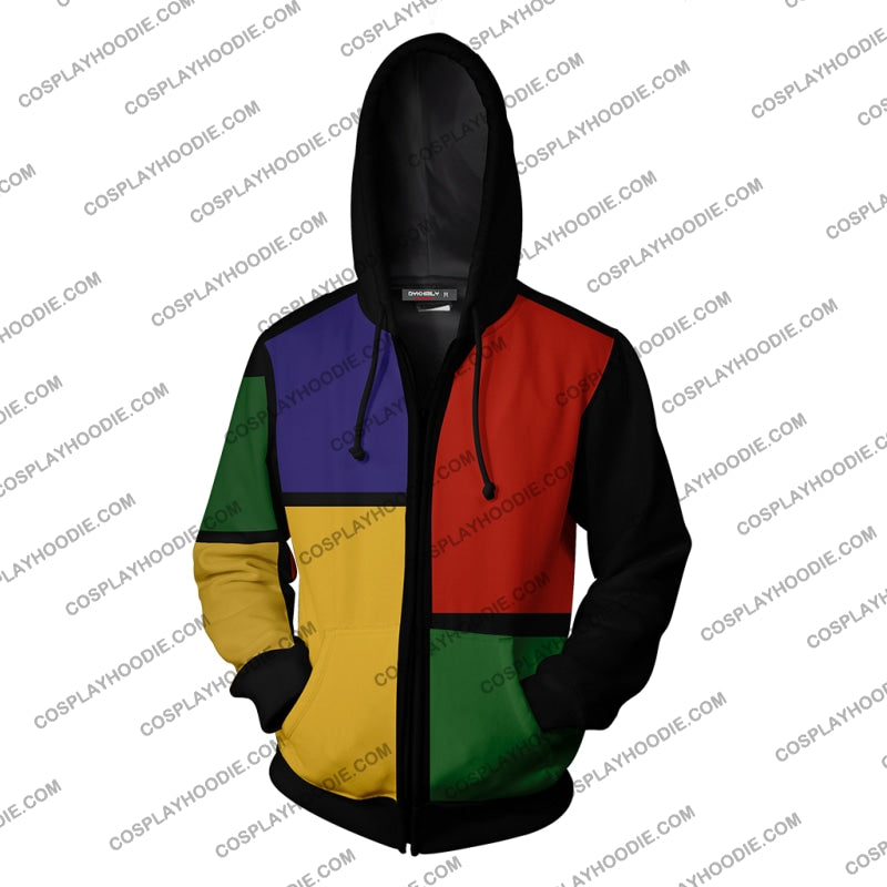 The Fresh Prince Of Bel-Air Deck Halls Will Smith Hoodie Cosplay Jacket Zip Up