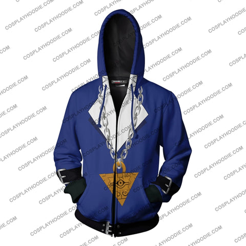 Image of Yu-Gi-Oh! Muto Yugi Cosplay New Look Zip Up Hoodie Jacket