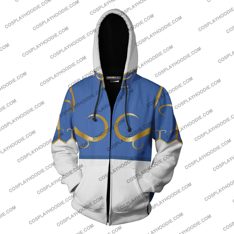 Street Fighter Chun-Li Hoodie Cosplay Jacket Zip Up