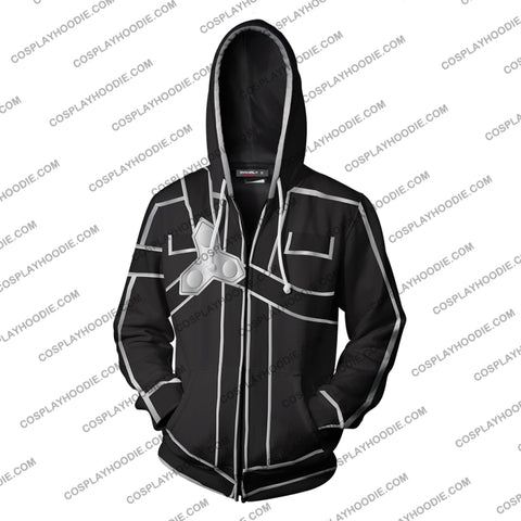 Sword Art Online Kirito Hoodie Cosplay Jacket Zip Up