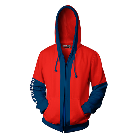 Baywatch Hoodie Cosplay Jacket Zip Up