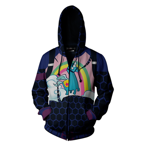 Image of Fortnite Brite Bomber Skin Hoodie Cosplay Jacket Zip Up