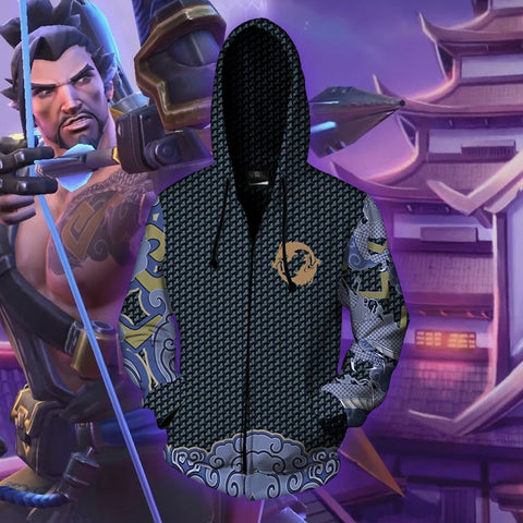 Image of Overwatch - Hanzo Cosplay Hoodie Jacket