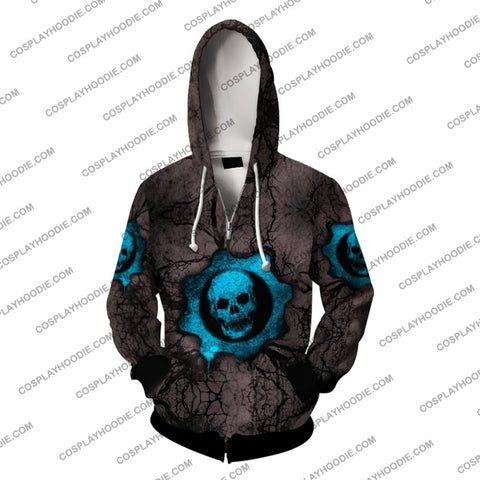 Gears Of War Blue Cosplay Hoodie Jacket