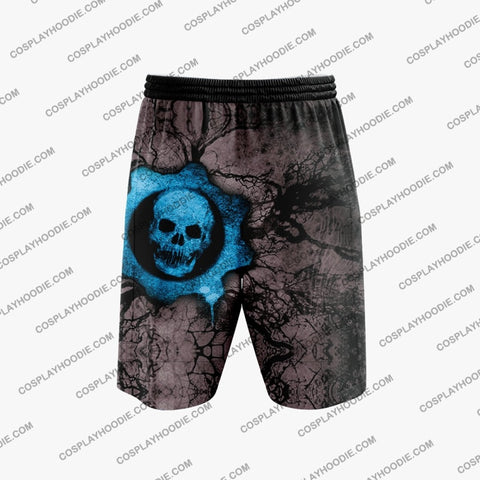 Gears Of War Blue Cosplay Shorts Board