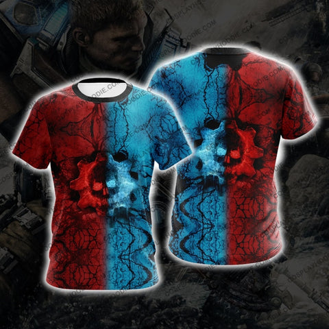 Gears Of War Red And Blue Cosplay T-Shirt A2 T-Shirt