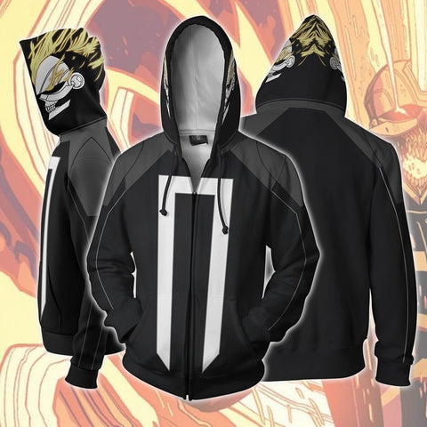 Image of Marvel Comics - Ghost Rider Cosplay Hoodie Jacket