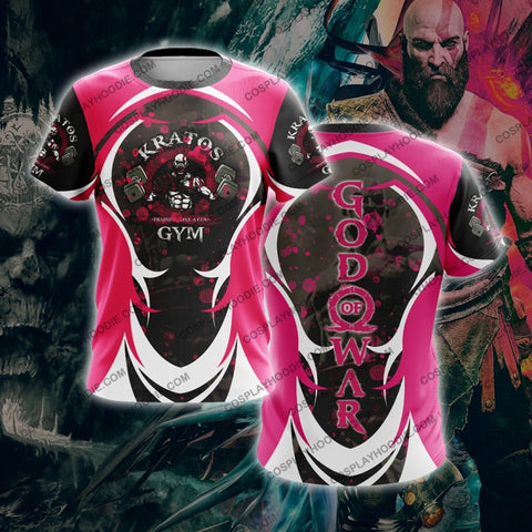 God Of War For Men T-Shirt Pink T-Shirt