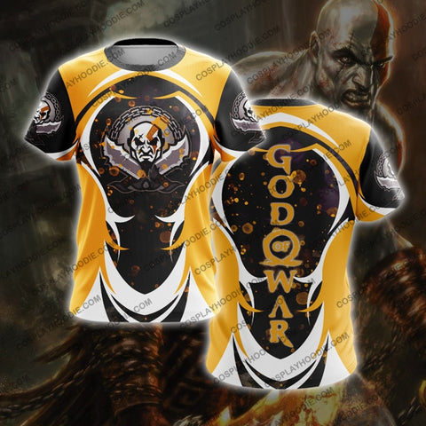 God Of War For Men T-Shirt Orange T-Shirt