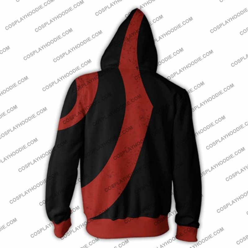 God Of War Kratos Zip Up Hoodie Black Jacket Cosplay