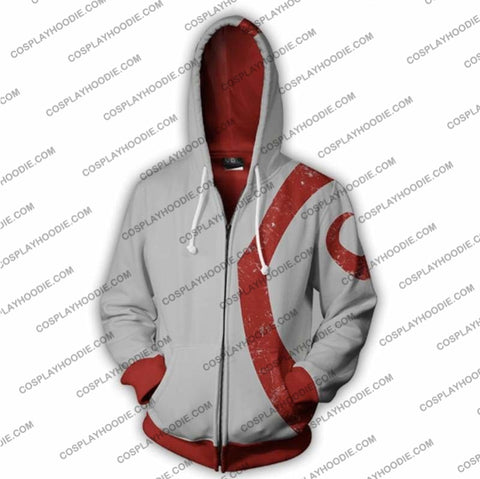 God Of War Kratos Zip Up Hoodie Jacket White Cosplay
