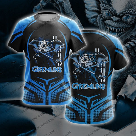 Image of Gremblin Blue And Black T-Shirt T-Shirt