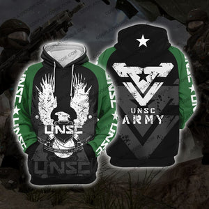 Halo Unsc Army H1 Hoodie Cosplay Jacket