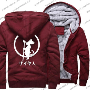 Dragon Ball Z Saiyan Fleece Winter Hoodie Jacket Color1 / M