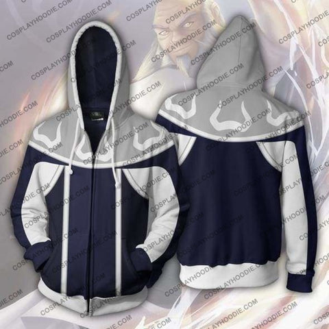 Avatar The Last Airbender Iroh Zip Up Hoodie Jacket Cosplay