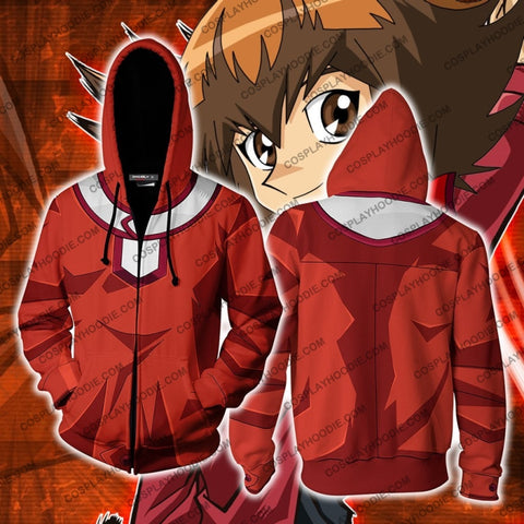 Yu-Gi-Oh! Jaden Yuki Hoodie Cosplay Jacket Zip Up