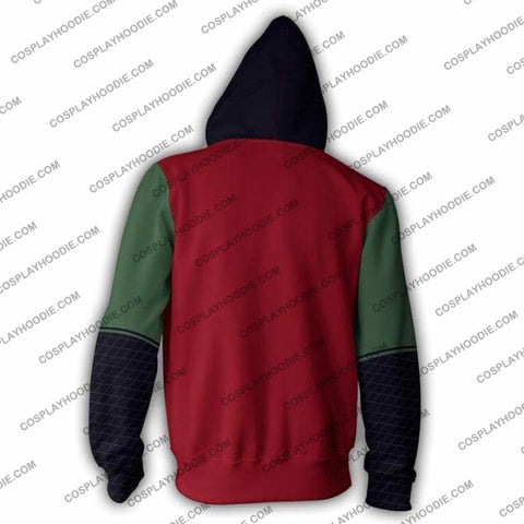 Naruto Jiraiya Zip Up Hoodie Jacket Cosplay