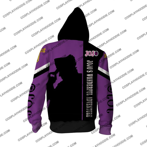 Image of Jojos Bizare Adventure Kujo Jotaro Purple Cosplay Hoodie Jacket