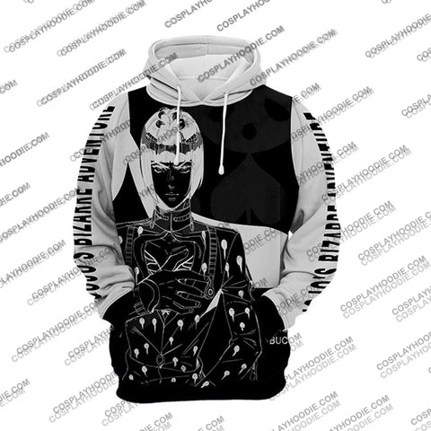Jojos Bizzare Adventure Golden Wind Bruno Bucciarati White Cosplay Hoodie Jacket
