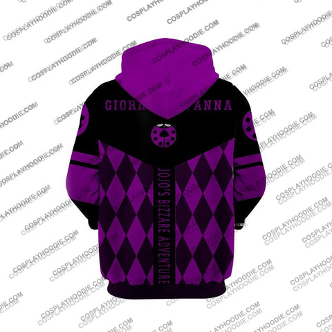 Jojos Bizzare Adventure Golden Wind Giorno Giovanna-1 Cosplay Hoodie Jacket