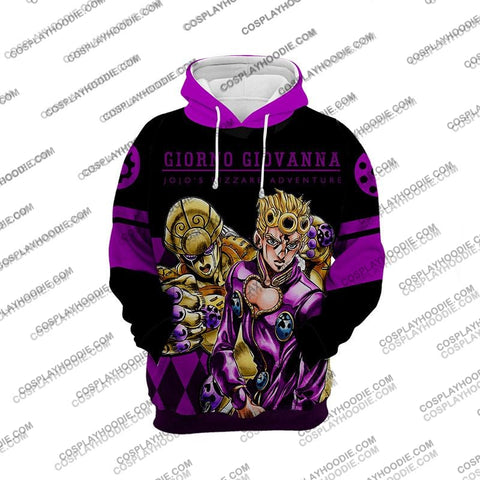 Image of Jojos Bizzare Adventure Golden Wind Giorno Giovanna-1 Cosplay Hoodie Jacket