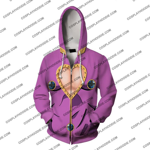 Image of Jojos Bizzare Adventure Golden Wind Giorno Giovanna Cosplay Hoodie Jacket