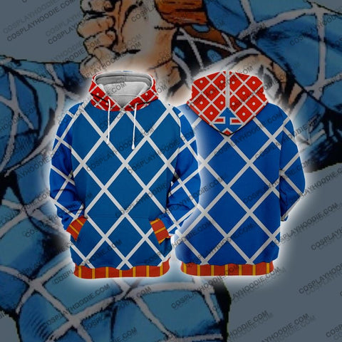 Image of Jojos Bizzare Adventure Golden Wind Guido Mista Cosplay Hoodie Jacket / Us Xs (Asian S)