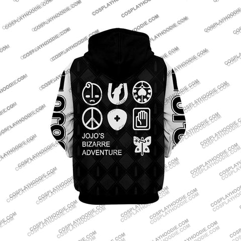 Image of Jojos Bizzare Adventure Golden Wind Guido Mista Black Cosplay Hoodie Jacket