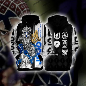 Jojos Bizzare Adventure Golden Wind Guido Mista Black Cosplay Hoodie Jacket