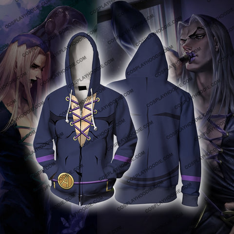 Jojos Bizzare Adventure Golden Wind Leone Abbacchio Cosplay Hoodie Jacket